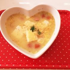 残ったスープでとろふわ食べるスープ