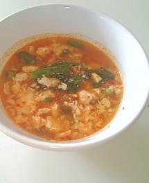 スンちゃんのお豆腐ピリ辛スープ