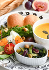 小松菜と豆ごま和え&豆乳パンプキンスープ