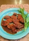 豚ヒレ肉の赤味噌ソース