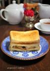 安吾のミソ漬け魚とタラの子トーストサンド