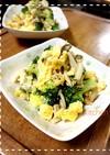 ブロッコリーと玉子のツナマヨ炒め