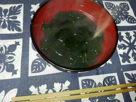 お椀で簡単にワカメ春雨スープ☆☆☆