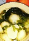 かぶとセロリの葉のあっさりスープ