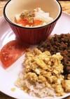 卵そぼろご飯#ワンプレート朝ご飯