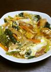 小松菜と車麩の卵とじ