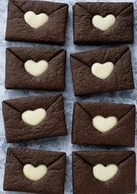 ガーナで工作♡可愛い黒ラブレタークッキー
