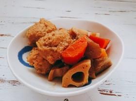 練りごまで☆ 鶏だんごと根菜のごまみそ煮