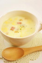 ベーコン&たまご♡ヘルシー豆乳スープの写真