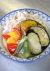 夏野菜のスタミナうどん