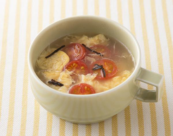 ☆簡単☆ミニトマトと卵の中華風スープ