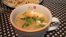 新玉ねぎと春雨の中華卵スープ♪