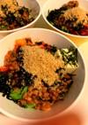 栄養満点☆アボカド納豆キムチ豆腐