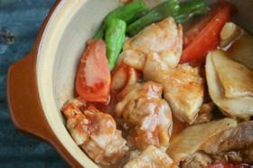 土鍋でレンチン★チキンのトマト煮