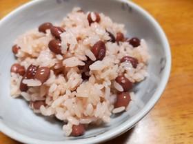 ポリ袋湯煎で簡単♥️お赤飯