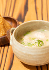 鶏だんご入り豆乳味噌スープ(丸新本家)