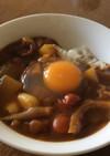 イベリコ豚しゃぶの鍋汁で、肉無しカレー