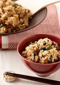 福豆リメイク!豚肉の中華風炊き込みご飯