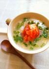 塩ラーメンスープで♪キムチーズ雑炊