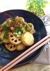 根菜と豚バラのポン酢炒め