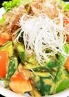 アボカドと胡瓜の山葵醤油