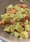 幼児食の副菜にんじんとさつまいもサラダ