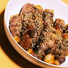 大葉と餅の豚肉巻き