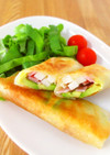 アボカドと長芋の春巻き(ベーコンチーズ)