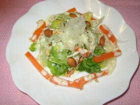 アーモンドソースの春野菜サラダ