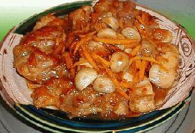若鶏肉とマッシュルームのオレンジ香り煮 _*