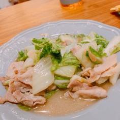豚と白菜のにんにく塩炒め