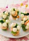 ひとくちモッツァと菜の花のグラスサラダ