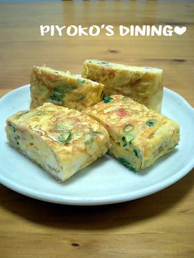 カニカマで♡カニ玉風中華味の卵焼き