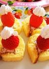 ロールちゃん☆簡単☆ショートケーキ風
