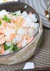 簡単♪鮭と三つ葉(大葉)の混ぜご飯
