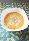ラーメンの残り汁でもち麦カレーしらスープ
