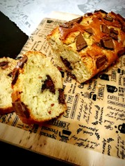 HMで簡単♡チョコバナナパウンドケーキの写真