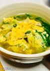 シャキうま!水菜とたまごの和風なスープ
