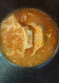 味噌ラーメン〆 キムチチーズ餃子☆