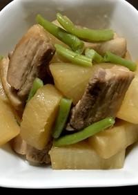 簡単♪豚バラと大根の煮物