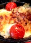 ニラ、チーズの豚肉・ベーコン巻きグラタン