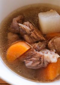 【台湾牛筋大根スープ】清燉牛肉蘿蔔湯