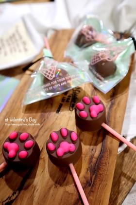 バレンタインに簡単ロリポップチョコ By Sachi825 クックパッド
