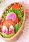 2月8日 豆腐ハンバーグ弁当 詰め方