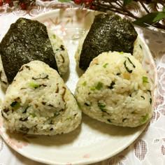 お野菜も摂りましょう☆小松菜おにぎり2種