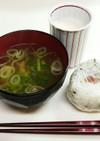 今日の賄い昼ご飯☆大根葉の味噌汁編その1