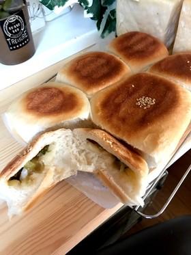 お焼き風☆野沢菜チーズパン