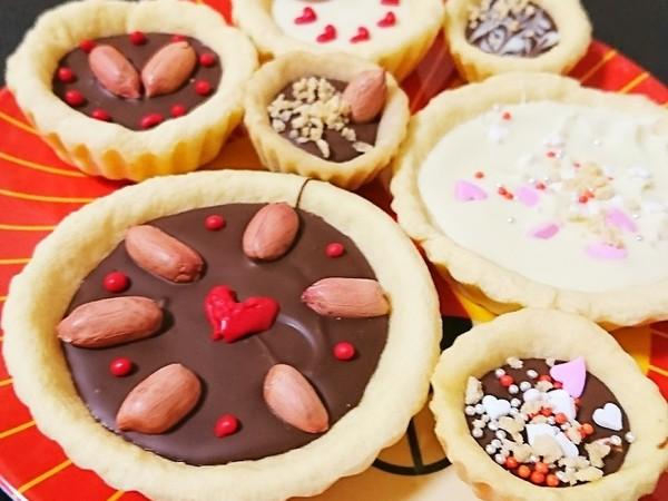 バレンタインに☆簡単可愛いチョコタルト