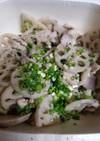 グルラボで簡単鶏もも肉とレンコンの煮物