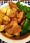 簡単絶品・豚角煮と里芋とピーマンの煮しめ